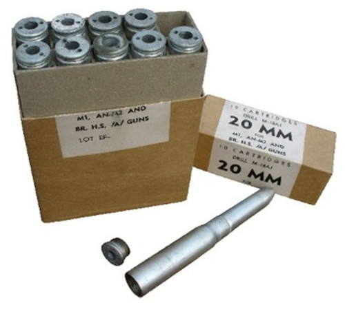 U.S. G.I. 20mm Practice Round w/ Removable Base - Box of 10