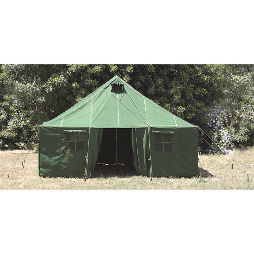 meet 4c3b8 c2640 16'x16' General Purpose Canvas Military Style Tent