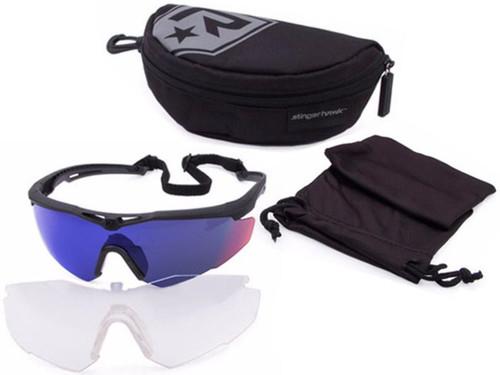 Revision Stingerhawk Essentials Ballistic Eyewear Kit (Color: Midnight Mirror)