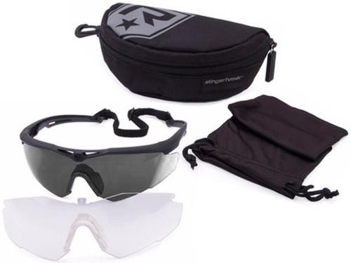 Revision Stingerhawk Essentials Ballistic Eyewear Kit (Color: Silver Mirror)