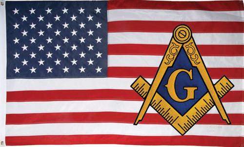 USA Mason Flag 3x5