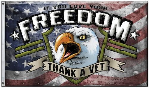 Thank A Vet Flag