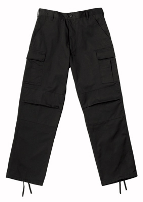 Rothco Zipper Relaxed Fit BDU Pants - Black