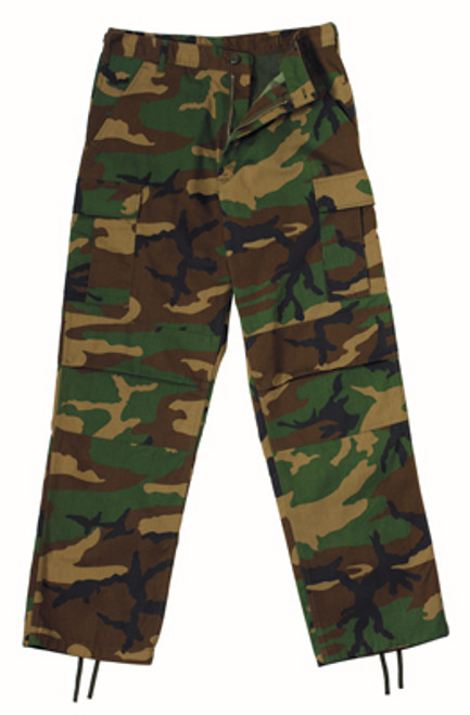 Rothco Zipper Relaxed Fit BDU Pants - Woodland Camo