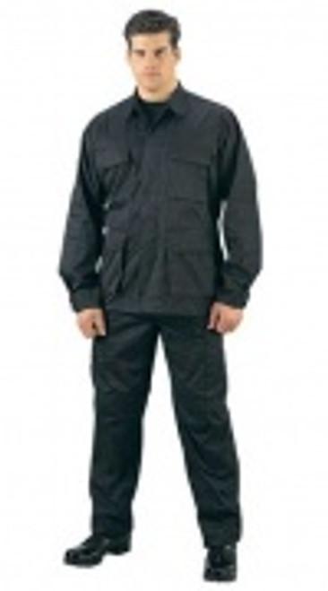 Rothco BDU Rip-Stop Shirt - Black