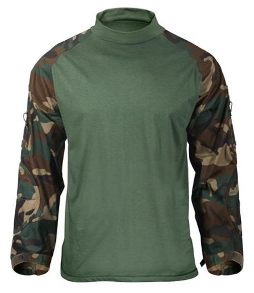 Rothco Combat Shirt - Woodland Camo