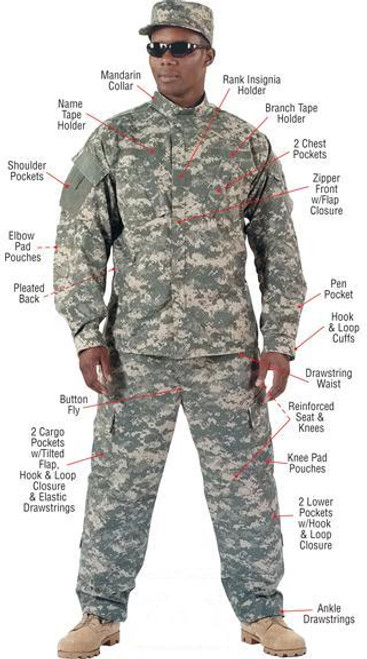 Rothco Combat Uniform Shirt - ACU Digital