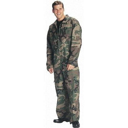 Air Force Style Flight Suit - Woodland Camo