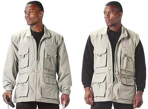 Convertable Safari Outback Jacket - Khaki