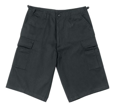 Military BDU Long Shorts - Black