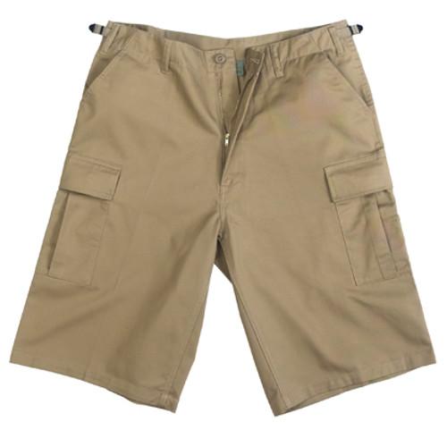 Military BDU Long Shorts - Khaki