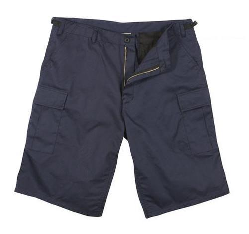 Military BDU Long Shorts - Navy Blue