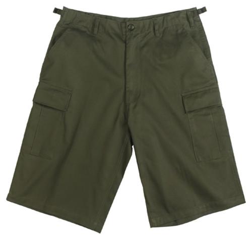 Military BDU Long Shorts - Olive Drab