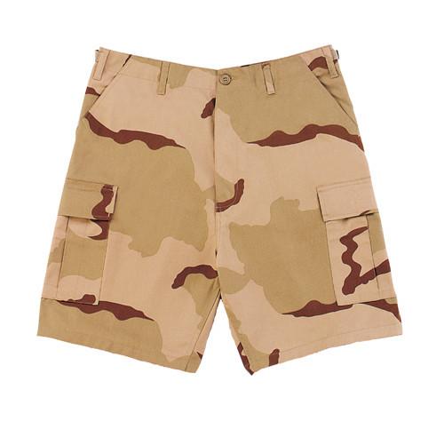 Military Cargo Shorts - 3 Color Desert Camo