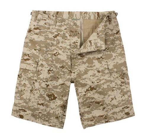 Military Cargo Shorts - Desert Digital Camo