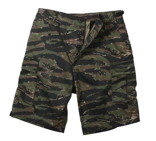 Military Cargo Shorts - Tiger Stripe