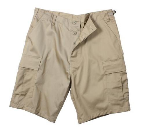 Military Rip-Stop Cargo Shorts - Khaki