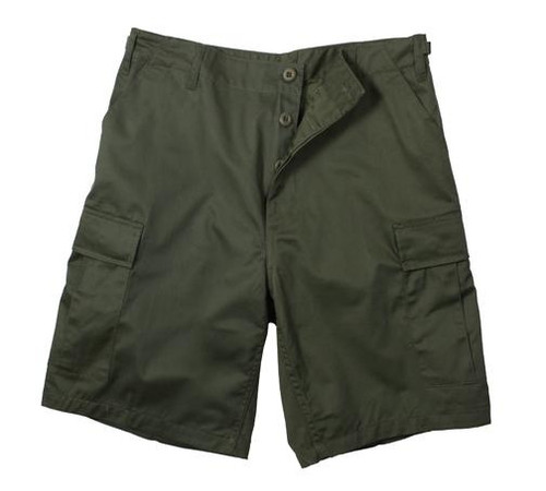 Military Rip-Stop Cargo Shorts - Olive Drab