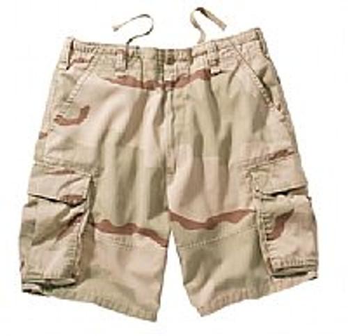 Vintage Cargo Shorts - Tri-Colour Desert Camo