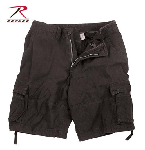 Vintage Infantry Utility Shorts - Black