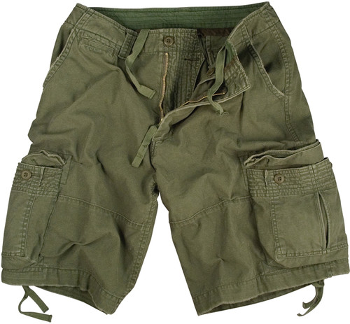 Vintage Infantry Utility Shorts - Olive Drab