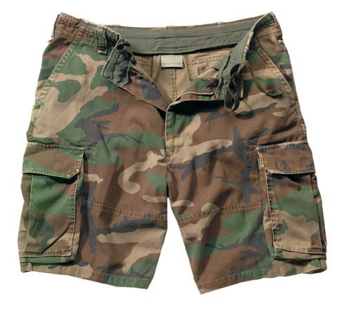 Vintage Infantry Utility Shorts - Woodland Camo