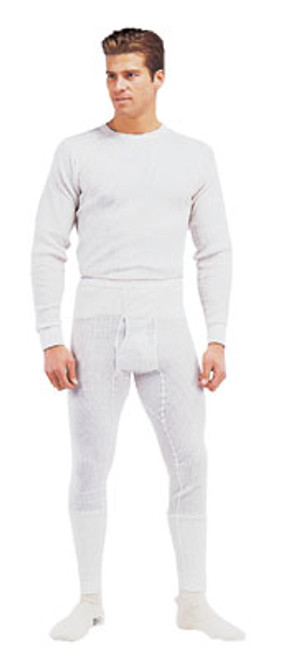 Natural Thermal Knit Underwear Top - White