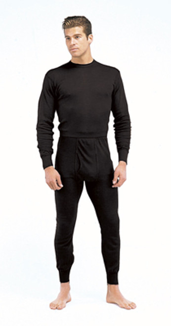 Performance Polypropylene Thermal Underwear Top - Black