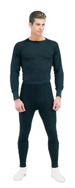 Thermal Knit Underwear Tops - Black