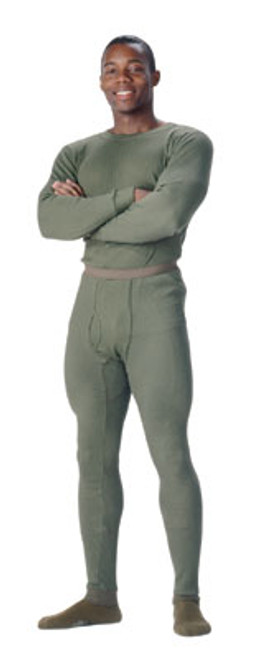 Thermal Knit Underwear Tops - Olive Drab