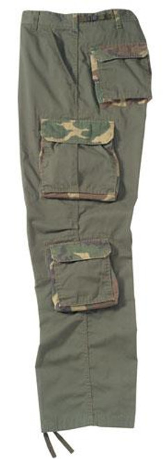 Vintage Fatigue Pants - Olive Drab w/Woodland Accents