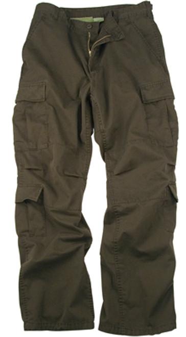 Vintage Fatigue Paratrooper Pants - Brown