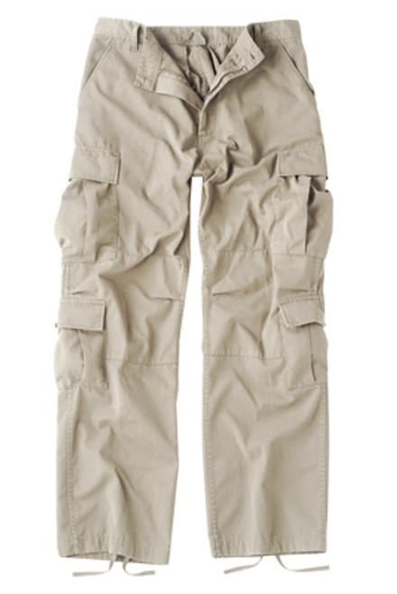 Vintage Fatigue Paratrooper Pants - Khaki