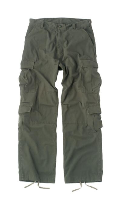 Vintage Fatigue Paratrooper Pants - Olive Drab