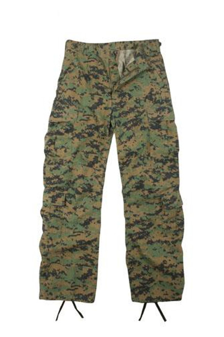 Vintage Fatigue Paratrooper Pants - Woodland Digital