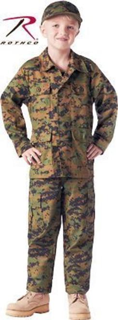 Junior G.I. Military B.D.U. Shirt - Woodland Digital Camo