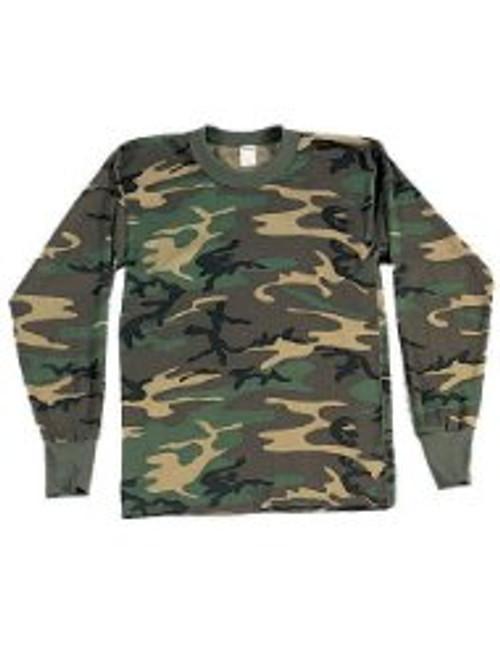 Jr GI Long Sleeve T-Shirt - Woodland Camo