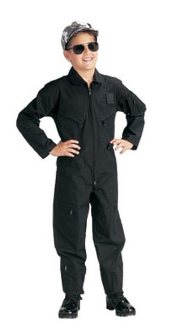 Jr. GI Air Force Style Flight Suit - Black