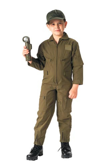Jr. GI Air Force Style Flight Suit - Olive Drab