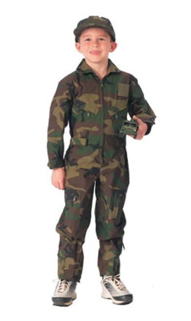 Jr. GI Air Force Style Flight Suit - Woodland Camo