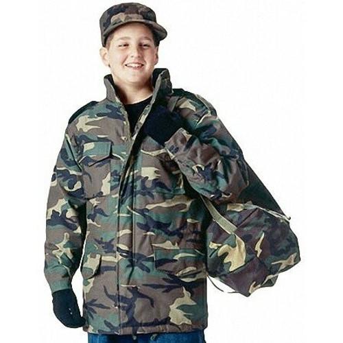 Kids M-65 Field Jacket - Woodland Camo