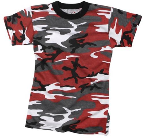 Junior G.I. Camo T-Shirt - Red Camo