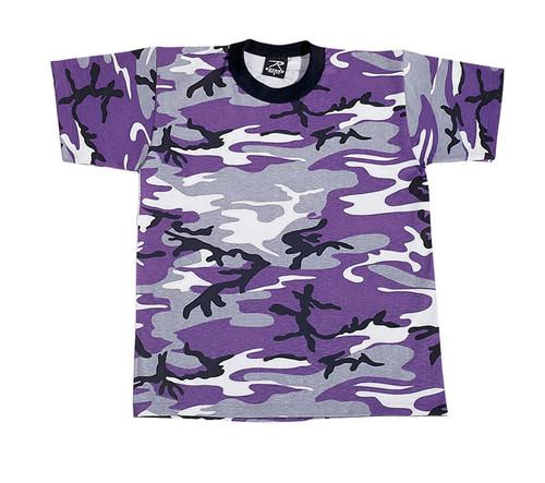 Junior G.I. Camo T-Shirt - Ultra Violet