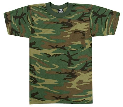 Junior G.I. Camo T-Shirt - Woodland Camo