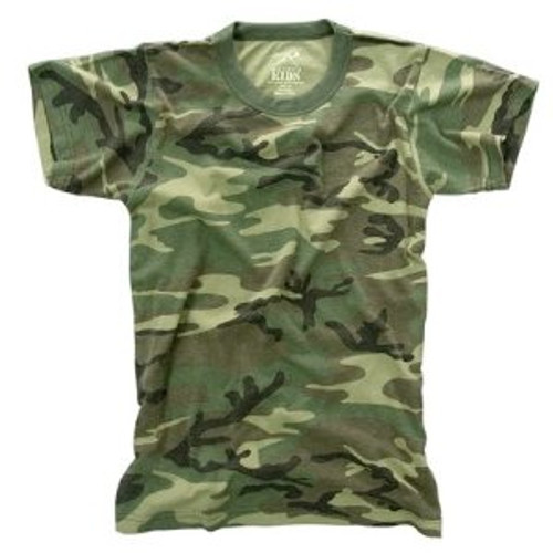 Kid's Vintage T-Shirt - Woodland Camo