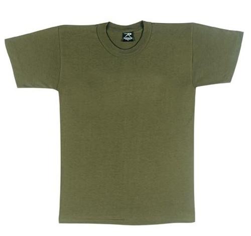 Kids Plain T-Shirt - Olive Drab