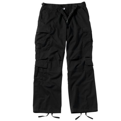 Womens Vintage Paratrooper Pants - Black