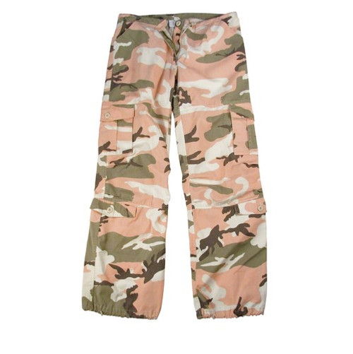 Womens Vintage Paratrooper Pants - Subdued Pink Camo