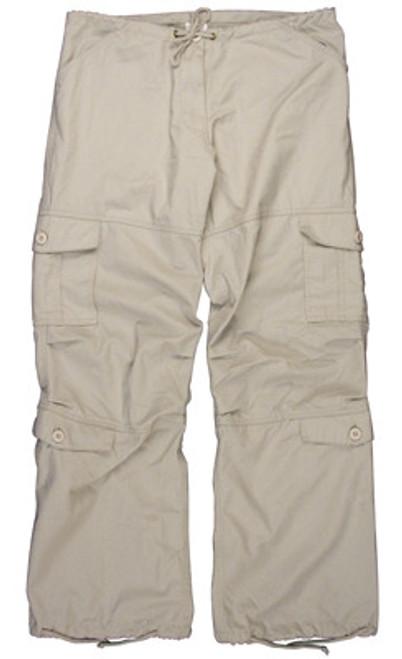 Women's Vintage Paratrooper Pants - Stone