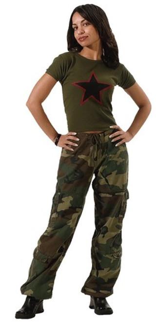 Women's Vintage Paratrooper Pants - Woodland Camo
